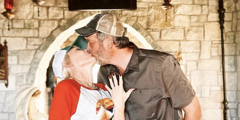 Gwen Stefani and Blake Shelton Announce Their Engagement in Matching Trucker Hats
