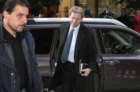 International Monetary Fund Deputy Director and Mission Chief to Greece Thomsen arrives at the Finance Ministry in Athens