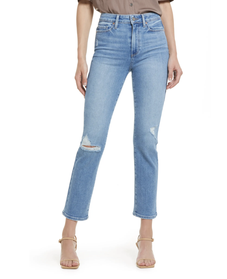 Paige Cindy Ripped Straight Leg Jeans (Photo via Nordstrom Canada)