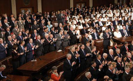 U.S. President Donald Trump addresses Joint Session of Congress