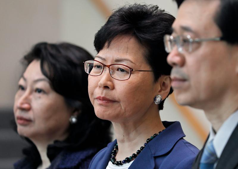 Trump administration sanctions Hong Kong chief Carrie Lam over 'Orwellian' crackdown