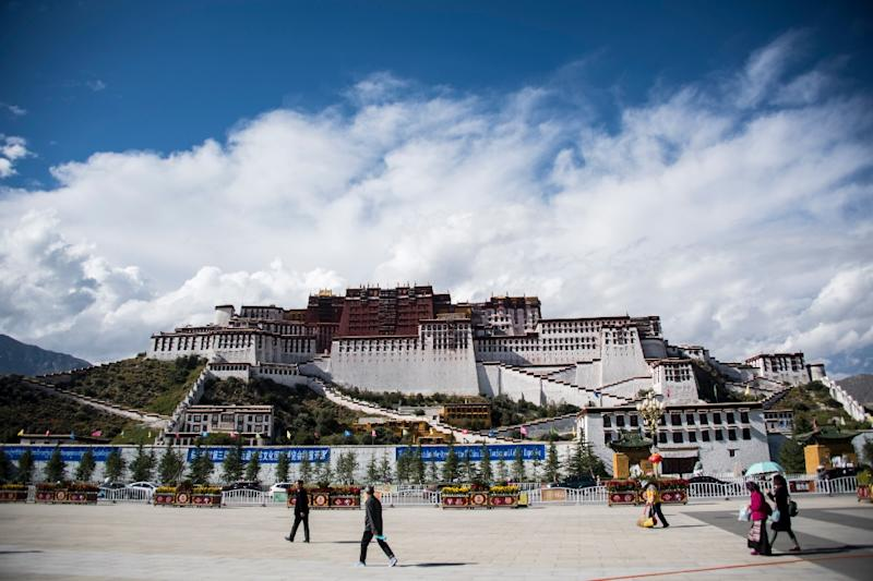 The iconic Potala Palace in Tibet's regional capital of Lhasa (AFP Photo/JOHANNES EISELE)