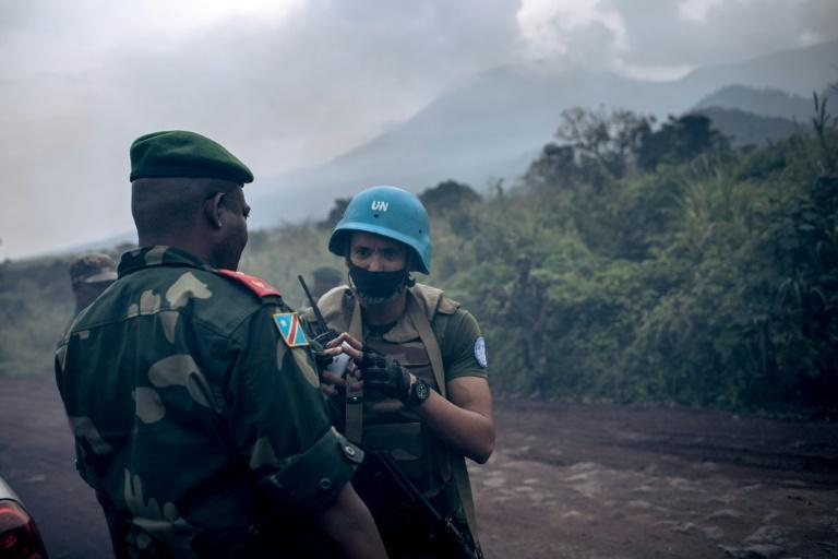 Congolese and UN troops secured the scene of the attack on the Italian ambassador and his staff