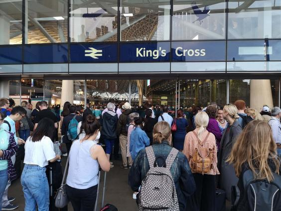 All services from London's King's Cross station were suspended, leaving thousands stranded. (PA)