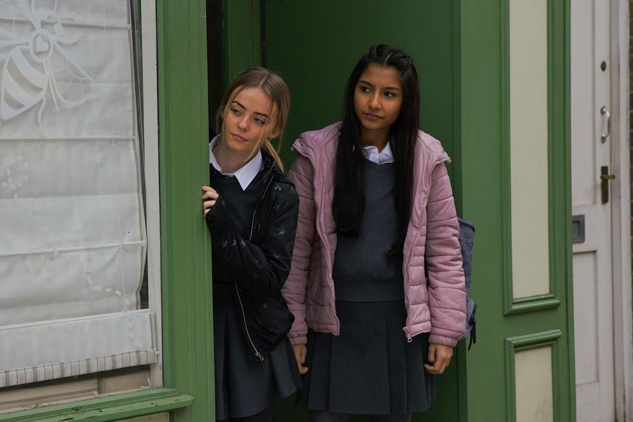 <p>She suggests it's obvious that Amy fancies Corey. Could this drive a wedge between Amy and Asha, who also likes Corey?</p>