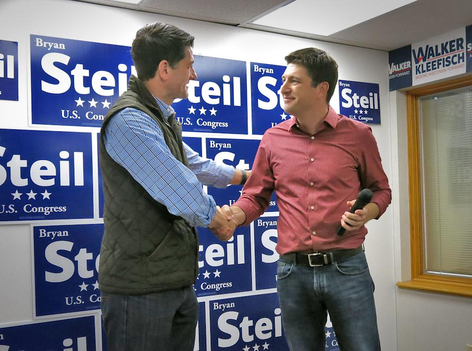 In Photos: Paul Ryan And Bryan Steil Stop At GOP Headquarters