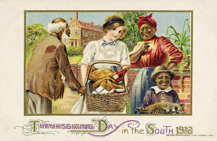 1912 — Thanksgiving Day in the South 1912 Postcard — Image by © Lake County Museum/Corbis