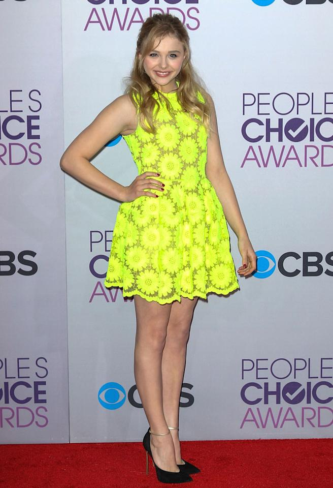 LOS ANGELES, CA - JANUARY 09: Actress Chloe Grace Moretz arrives at the 39th Annual People's Choice Awards at Nokia Theatre L.A. Live on January 9, 2013 in Los Angeles, California. (Photo by Paul A. Hebert/Getty Images)