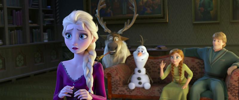 Elsa, Sven, Olaf, Anna and Kristoff are back for more adventures in 'Frozen 2' (Photo: Walt Disney Studios Motion Pictures / courtesy Everett Collection)