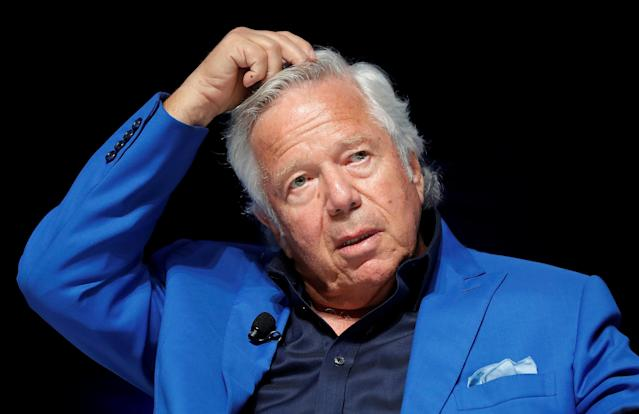 New England Patriots owner Robert Kraft faces charges of soliciting prostitution. (Reuters)
