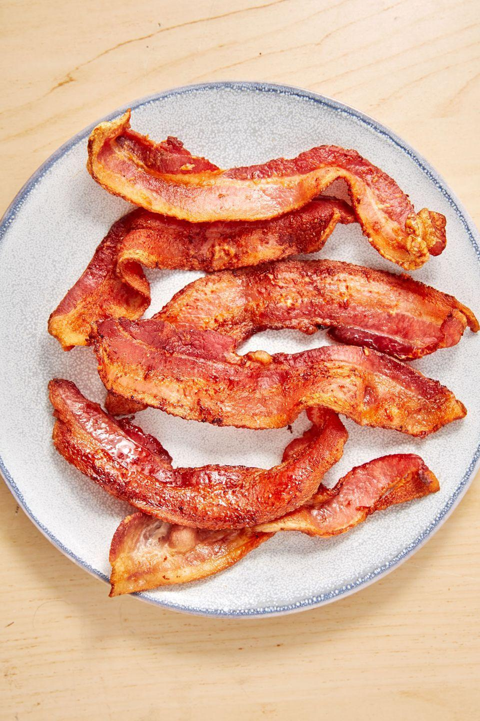 """<p>Can you smell it from here?</p><p>Get the recipe from <a href=""""https://www.delish.com/cooking/recipe-ideas/a28141278/air-fryer-bacon-recipe/"""" rel=""""nofollow noopener"""" target=""""_blank"""" data-ylk=""""slk:Delish"""" class=""""link rapid-noclick-resp"""">Delish</a>.</p>"""