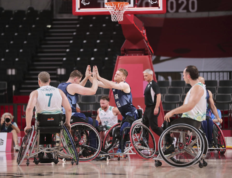 The British team beat London 2012 champions Canada 66-52 in a heart-thumping comeback victory on Wednesday
