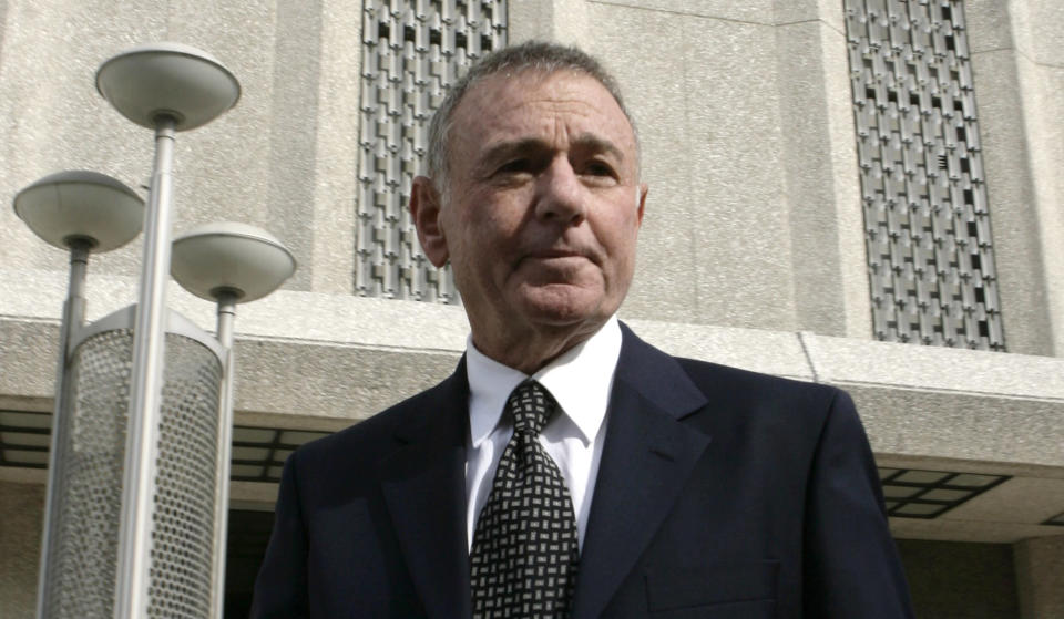FILE - Howard Weitzman, attorney for Paris Hilton, leaves the Los Angeles Municipal Court Metropolitan branch on May 4, 2007. Weitzman, an attorney in decades of front-page trials whose clients included Hilton, Michael Jackson, Justin Bieber and auto maker John DeLorean, has died. Weitzman's wife says he died Wednesday, April 8, 2021, after a brief illness. He was 81. (AP Photo/Damian Dovarganes, File)