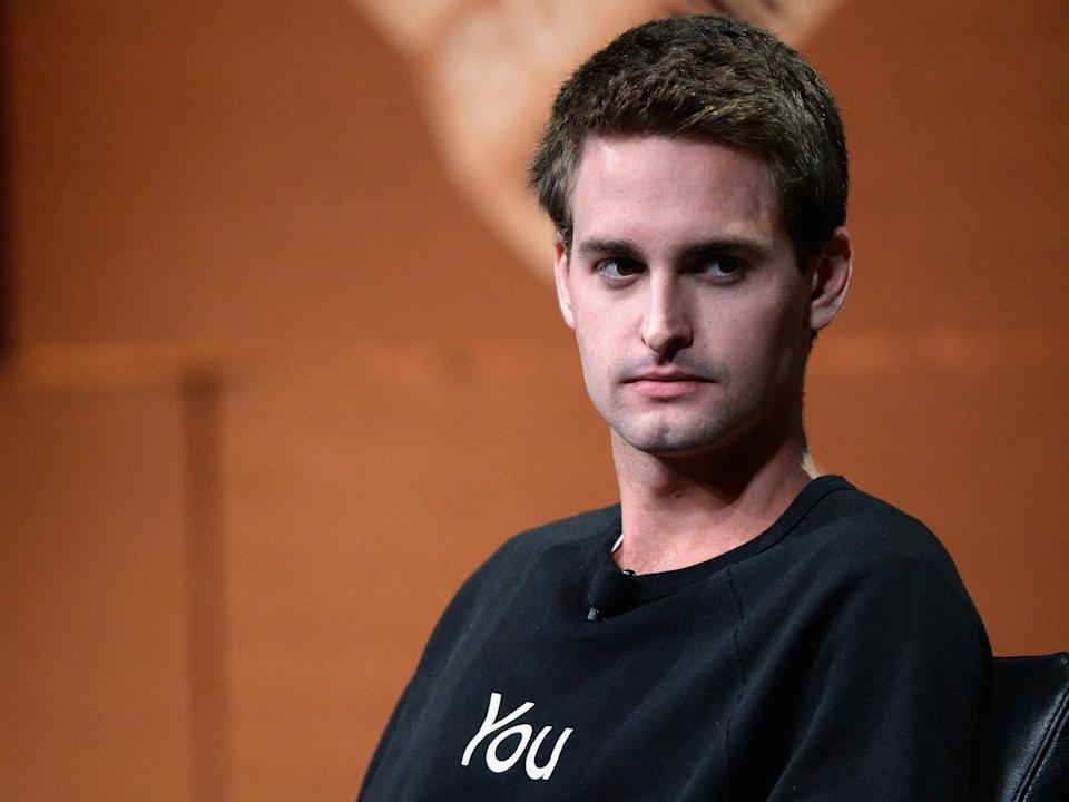 Snapchat CEO Evan Spiegel lost a lot of money after the company's earnings report. Getty/Michael Kovac