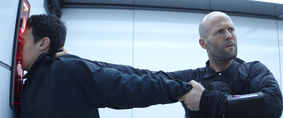 Deckard Shaw (Jason Statham) in Fast & Furious: Hobbs & Shaw, directed by David Leitch (credit: Universal)