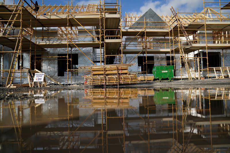 FILE PHOTO: Construction site during the coronavirus disease (COVID-19) pandemic in Galway