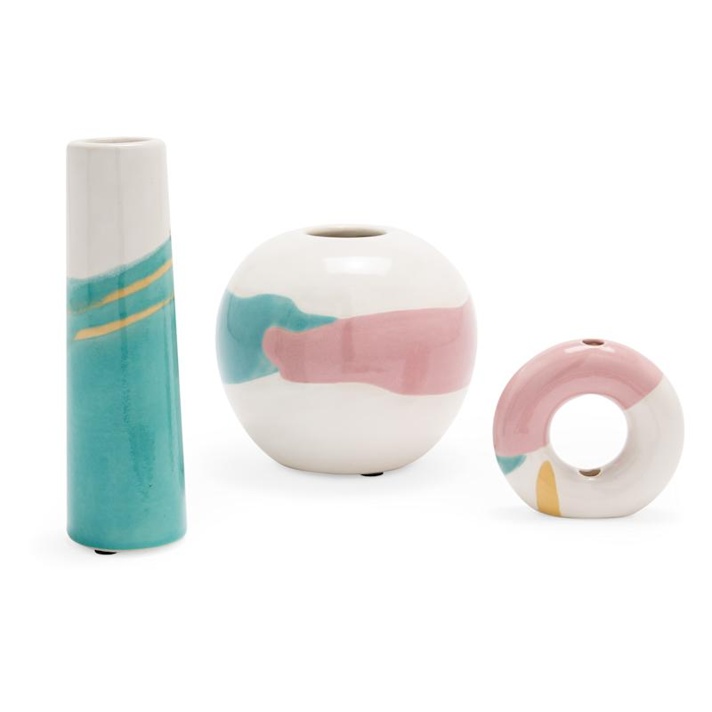 Abstract Vase Set of 3 by Drew Barrymore Flower Home. (Photo: Walmart)