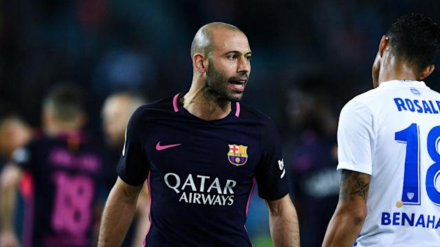 Luis Enrique's defensive plans for the season finale are in limbo as he waits to see if his Argentine centre-half will be fit enough to face Eibar