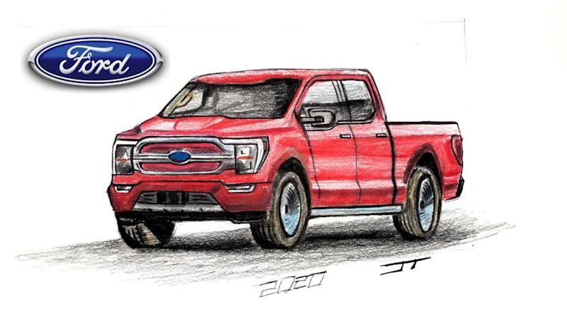 Ford F-150 Electric Truck Render