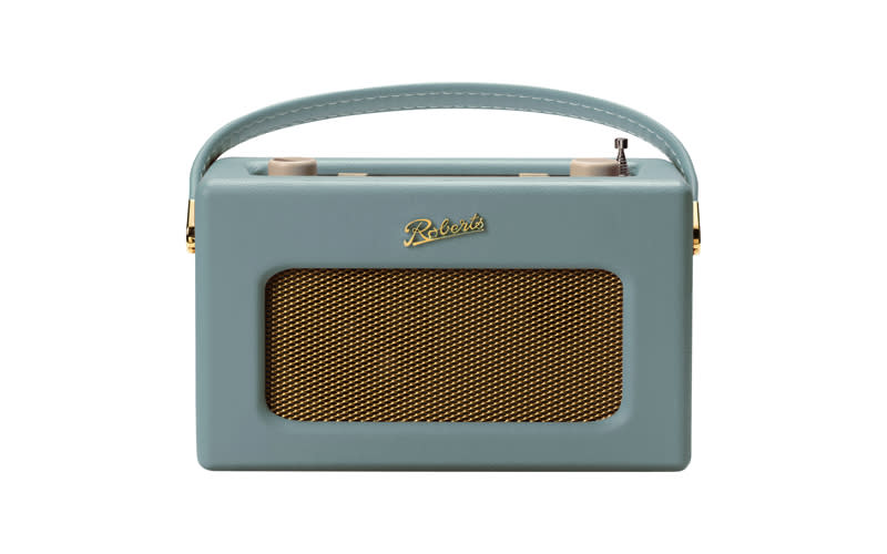 "<p>Roberts digital radio, <a href=""https://www.johnlewis.com/roberts-revival-rd70-dab-dab-fm-bluetooth-digital-radio-with-alarm/duck-egg/p3307517"" rel=""nofollow noopener"" target=""_blank"" data-ylk=""slk:£165 from John Lewis"" class=""link rapid-noclick-resp""><em>£165 from John Lewis</em></a> </p>"