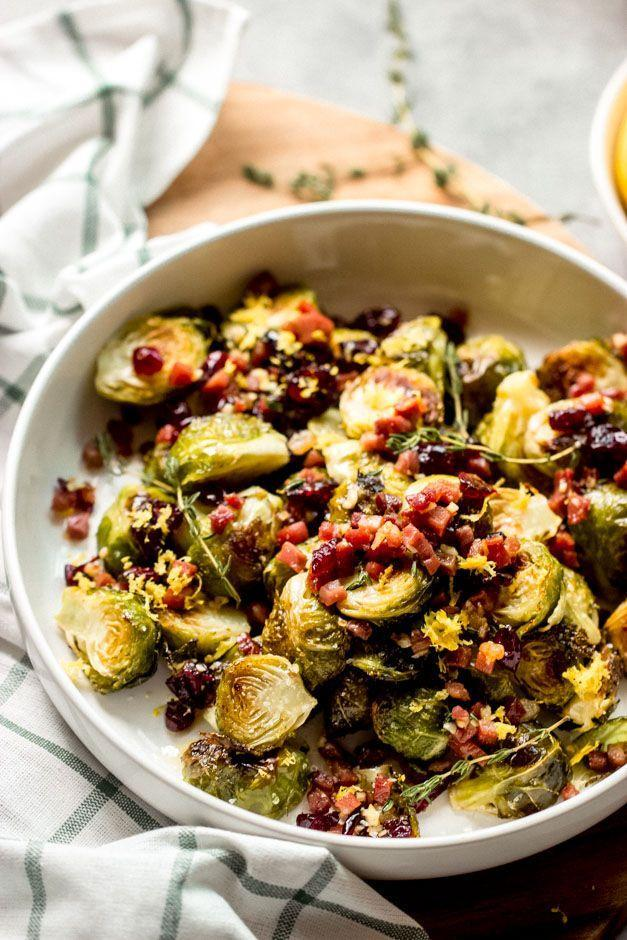 """<p>Thyme and cranberries make this sweet and salty side dish perfect for the holidays. It's so good you'll have to remind yourself to save room for the rest of your dinner. </p><p><strong>Get the recipe from <a href=""""https://www.littlebroken.com/roasted-lemon-brussels-sprouts-with-cranberries-and-prosciutto/"""" rel=""""nofollow noopener"""" target=""""_blank"""" data-ylk=""""slk:Little Broken"""" class=""""link rapid-noclick-resp"""">Little Broken</a>.</strong></p>"""