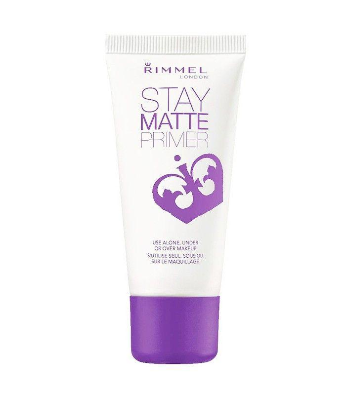 Rimmel's Stay Matte Primer works well under all types of foundations. It controls shine and keeps your face feeling fresh. Even better—this mattifier will never feel tight or dry out your skin.