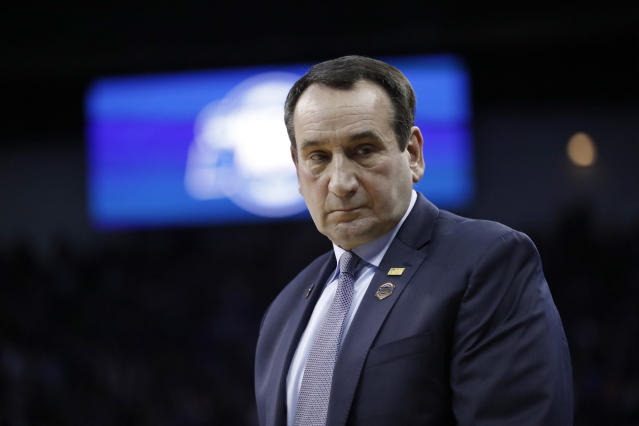 Duke head coach Mike Krzyzewski has another talented recruiting class inbound. (AP Photo/Nati Harnik)
