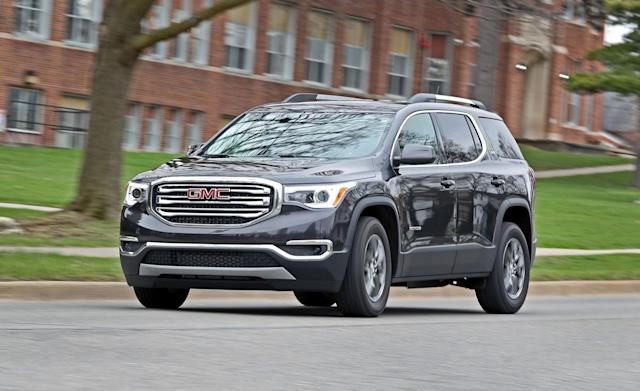 <p><strong>GMC Acadia</strong><br><strong>Price as tested:</strong> $51,585<br><strong>Highlights:</strong> Steady ride, responsive handling, family-friendly three-row styling. <br><strong>Lowlights:</strong> Reliability issues with in-car electronics, power electronics and drive system. Many luxury features unavailable even on some mid-priced models.<br>(Car and Driver) </p>