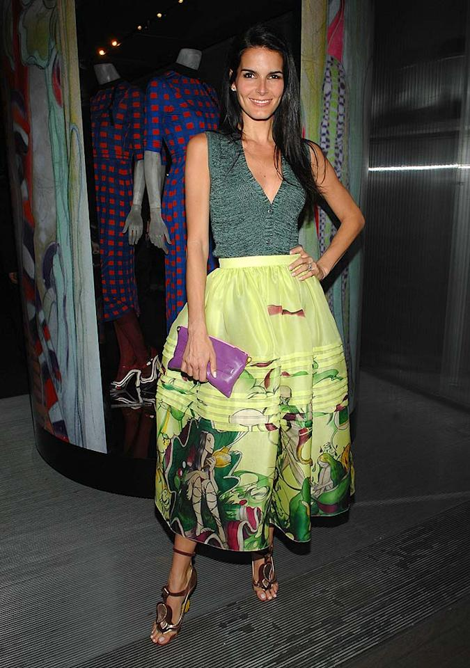 "Angie Harmon, star of the ""Women's Murder Club,"" dons a voluminous Prada skirt that is pretty, but seems to overtake her petite frame. John Shearer/<a href=""http://www.wireimage.com"" target=""new"">WireImage.com</a> - March 19, 2008"