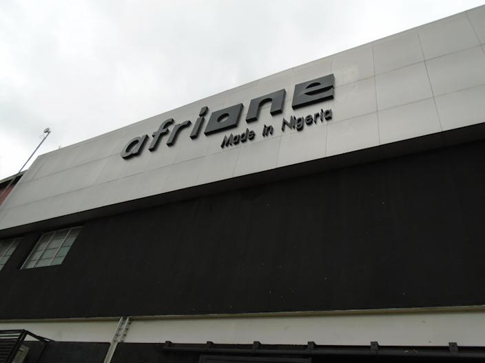 The exterior of AfriOne's Lagos factory. (Photo: Armin Rosen for Yahoo News)