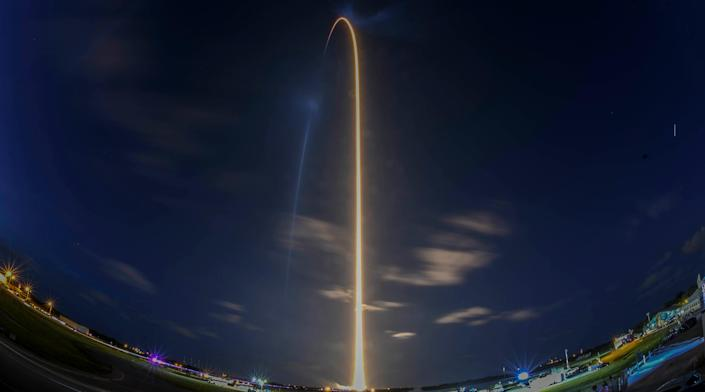 A SpaceX Falcon 9 rocket lifts off from Kennedy Space Center Wednesday Sept. 15, 2021. Aboard the rocket is the Inspiration4 crew, the first all-civilian crew to fly in space.