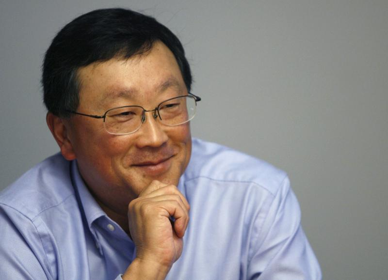 John Chen, Chairman and CEO of Sybase Inc., speaks at the Reuters Global Technology Summit New York