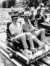 <p>Anne and her father enjoy an outing on a bamboo raft during a trip to Jamaica.<br></p>
