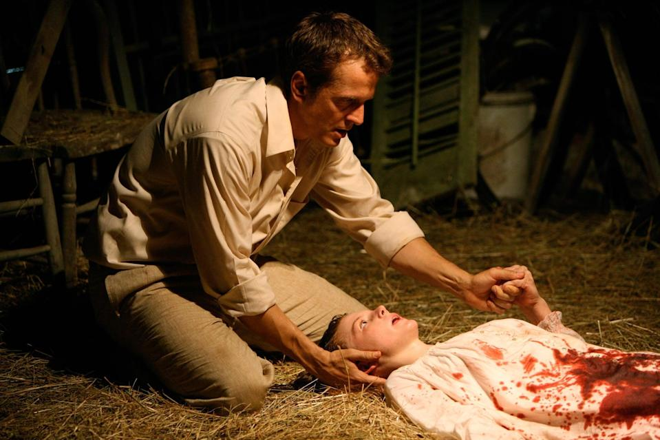 """<p>If you never want to sleep again, <strong>The Last Exorcism</strong> might be for you. Evangelical minister Cotton Marcus (Patrick Fabian) has made a living off of staging fake exorcisms. After feeling a tidal wave of guilt, he agrees to let a film crew make a documentary about his final exorcism, exposing him for the fraud he truly is. It all goes to sh*t, of course, when the girl Cotton intends to exorcise ends up being truly possessed, and he comes face-to-face with the mother of all demons. </p> <p>Watch <a href=""""https://play.hbomax.com/page/urn:hbo:page:GXpnY8AAunH-SmgEAAAAH:type:feature?utm_id=sa%7c71700000067030777%7c58700005868654303%7cp53631644808&amp;gclid=Cj0KCQiA4L2BBhCvARIsAO0SBdZ8t-eFTkt-98KdC-ZZjcTzYkdy_UCxZVQQQkjEq3_rF9ev3AKncMsaAr4YEALw_wcB&amp;gclsrc=aw.ds"""" class=""""link rapid-noclick-resp"""" rel=""""nofollow noopener"""" target=""""_blank"""" data-ylk=""""slk:The Last Exorcism""""><strong>The Last Exorcism</strong></a> on HBO Max now.</p>"""