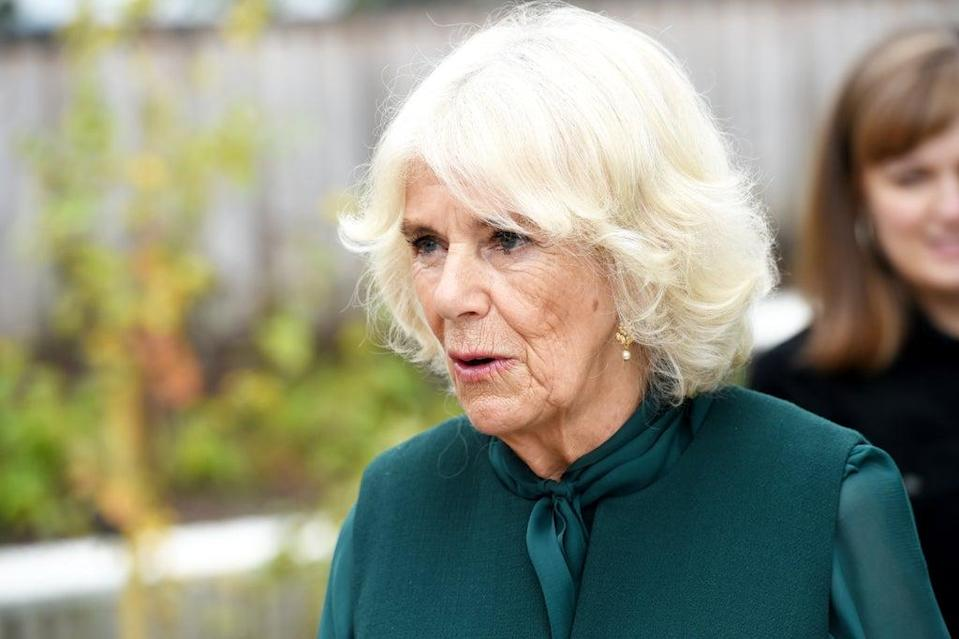 The Duchess of Cornwall during a visit to Maggies Highland Centre in Inverness (Jane Barlow/PA) (PA Wire)