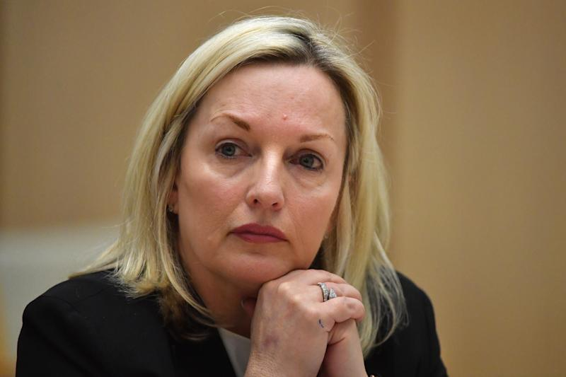 Australia Post CEO Christine Holgate appears before a Senate inquiry into changes at Australia Post in July. Source: AAP