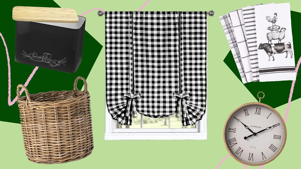 Consider adding gingham, plaid, wicker and wood to get the cottagecore style. (Photo: HuffPost )