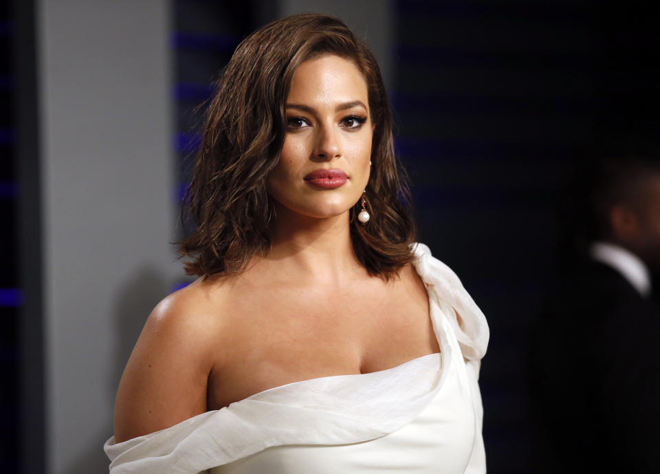 Ashley Graham (pictured in 2019) shared a nude photo while pregnant with twin boys. (Photo: REUTERS/Danny Moloshok)
