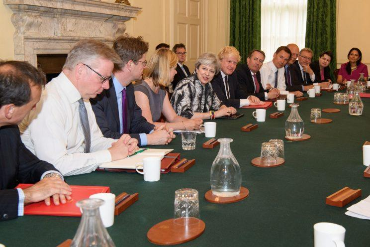 Theresa May is struggling to control her Cabinet