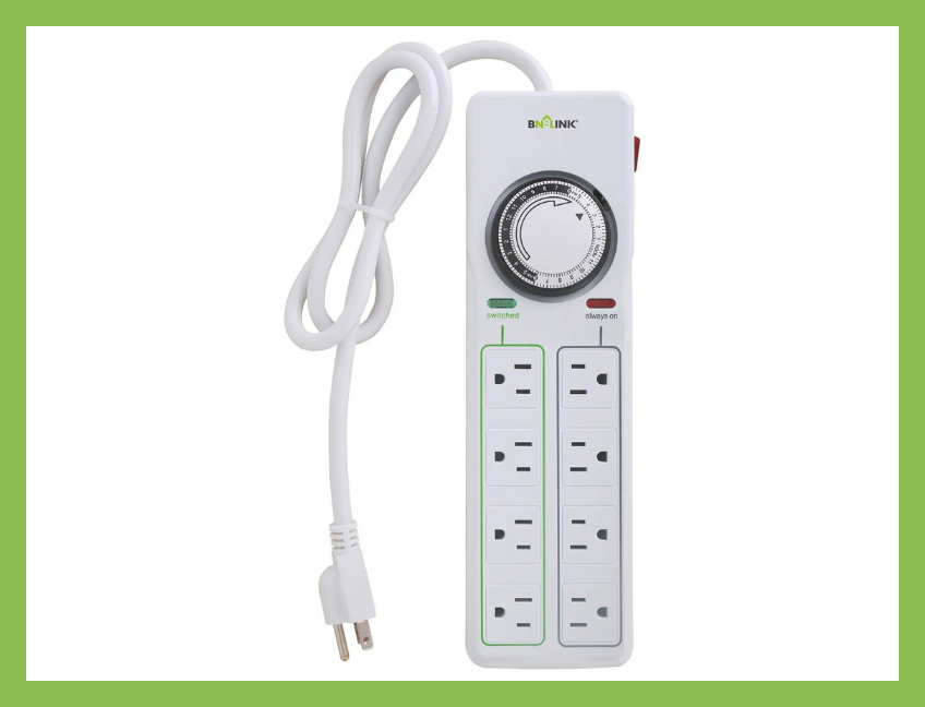 Save 30 percent—BN-Link Eight Outlet Surge Protector with Mechanical Timer, today only! (Photo: Amazon)