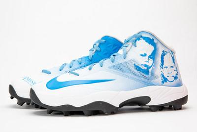 Side view of Nate Solder's cleats for the NFL's My Cause My Cleats Campaign. Courtesy: Compassion International