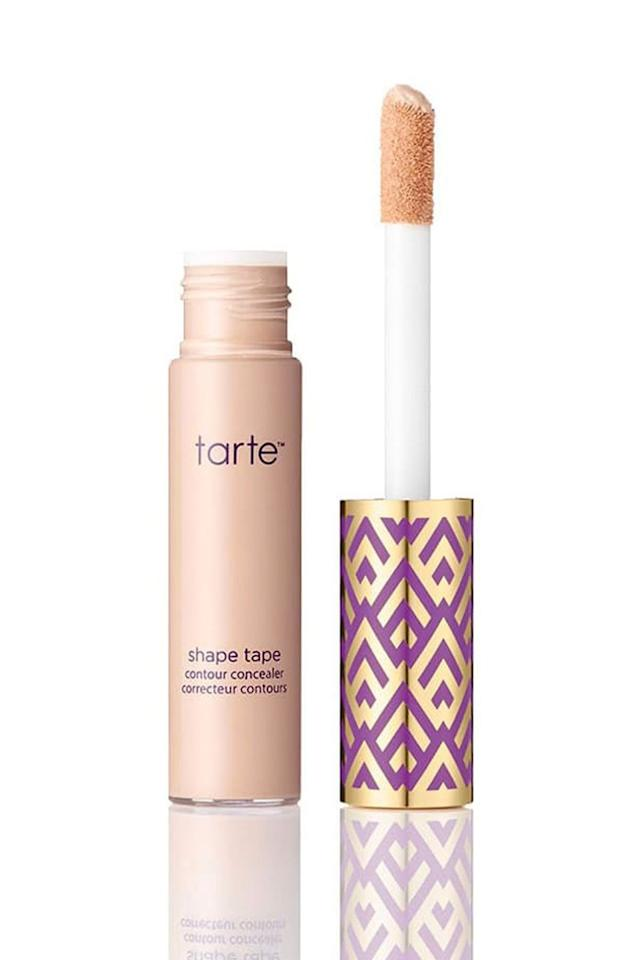 """<p><em>Tarte Double Duty Shape Tape Contour Concealer, $27</em></p><p><a rel=""""nofollow"""" href=""""http://www.ulta.com/double-duty-beauty-shape-tape-contour-concealer?productId=xlsImpprod14251035"""">SHOP IT</a><br></p><p>In case 8,000 five-star reviews don't speak for themselves, then maybe you'll be wooed by the fact that this cult-favorite concealer is filled with Amazonian clay (to <strong>soak up skin oils to prevent midday slippage</strong>), plus hydrating shea butter, olive oil, and sunflower seed oil to keep skin dewy and hydrated all day long. </p>"""