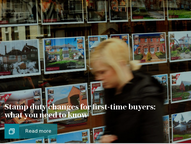 stamp duty changes for first-time buyers