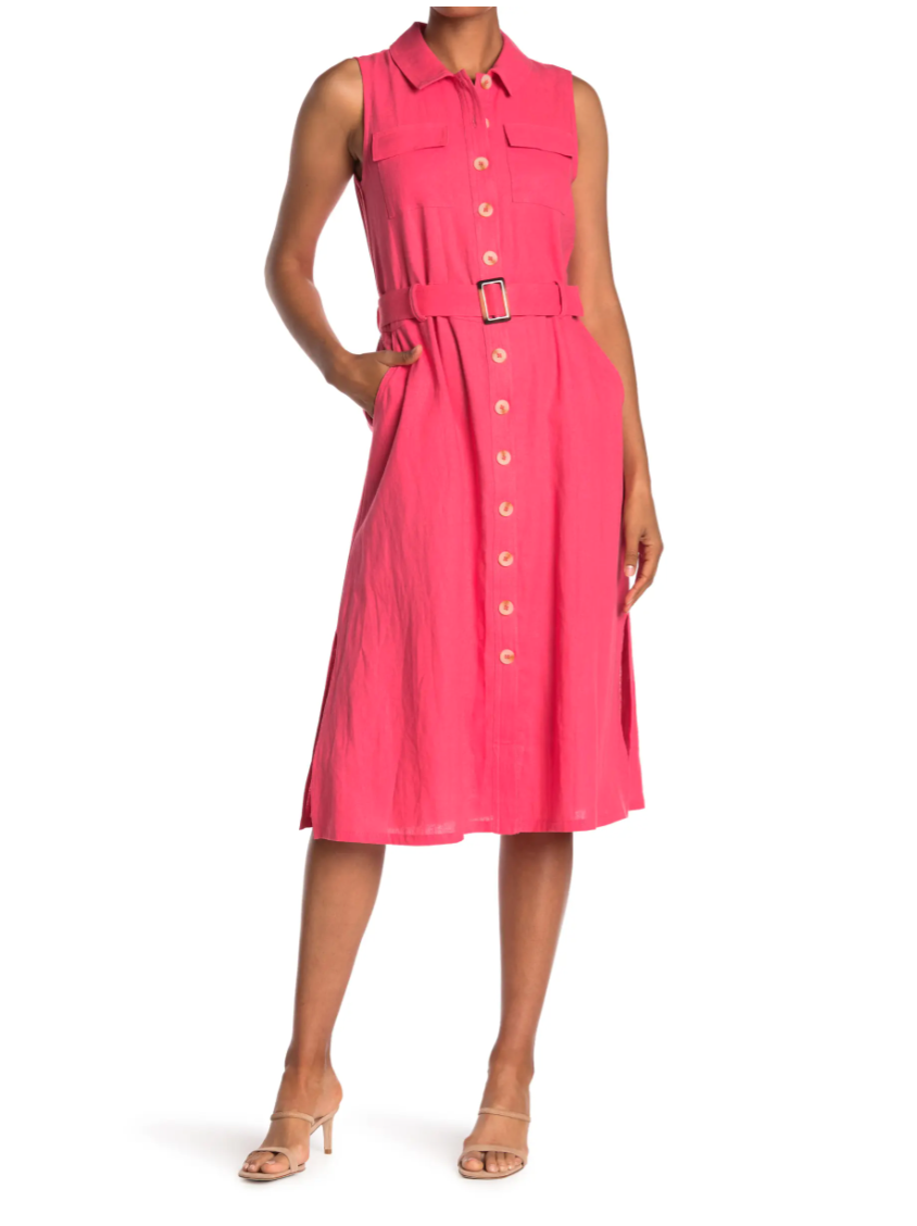 """<h2>Melloday Linen Shirtdress</h2><br>Linen? For summer? It's not groundbreaking, but it's definitely a good call, especially in the form of a belted, button-down frock that's polished yet super easy to wear. <br><br><strong>The Hype:</strong> 4.8 out of 5 stars; 6 reviews on <a href=""""https://www.nordstromrack.com/s/melloday-sleeveless-linen-belted-midi-shirtdress/6045334"""" rel=""""nofollow noopener"""" target=""""_blank"""" data-ylk=""""slk:NordstromRack.com"""" class=""""link rapid-noclick-resp"""">NordstromRack.com</a><br><br><strong>What They're Saying:</strong> """"I received my order a few days ago and they are absolutely beautiful. I love linen, I didn't realize that the dresses had splits on each side that was really a plus. Love theses dresses. I purchased the yellow, blue and pink. They cay be dressed up with a scarf/blazer. Can't go wrong with them."""" — Anonymous, NordstromRack.com reviewer<br><br><strong>Melloday</strong> Sleeveless Linen Belted Midi Shirtdress, $, available at <a href=""""https://go.skimresources.com/?id=30283X879131&url=https%3A%2F%2Fwww.nordstromrack.com%2Fs%2Fmelloday-sleeveless-linen-belted-midi-shirtdress%2F6045334"""" rel=""""nofollow noopener"""" target=""""_blank"""" data-ylk=""""slk:Nordstrom Rack"""" class=""""link rapid-noclick-resp"""">Nordstrom Rack</a>"""