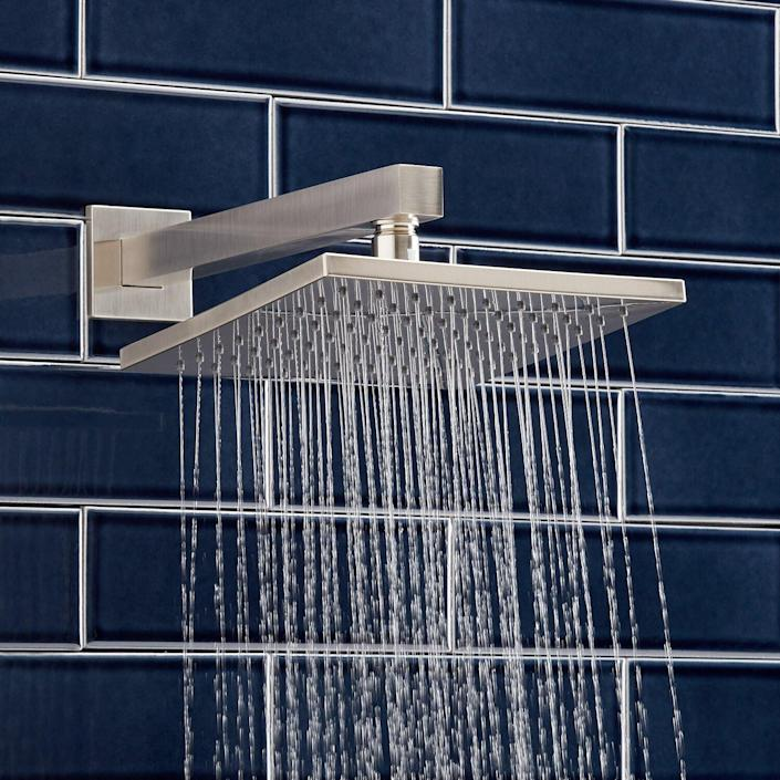 Rigi Rainfall Shower Head with Extended Wall-Mount Shower Arm