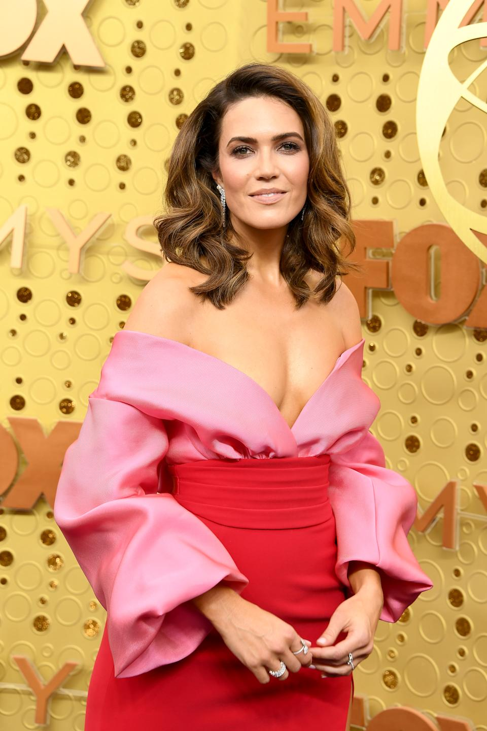 LOS ANGELES, CALIFORNIA - SEPTEMBER 22: Mandy Moore attends the 71st Emmy Awards at Microsoft Theater on September 22, 2019 in Los Angeles, California. (Photo by Steve Granitz/WireImage)