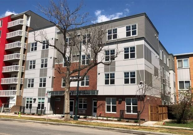 The Orion is a 51-unit affordable housing in Calgary's Beltine area created by the HomeSpace Society and its builder partner, Jayman BUILT. (Canada Mortgage and Housing Corp. - image credit)