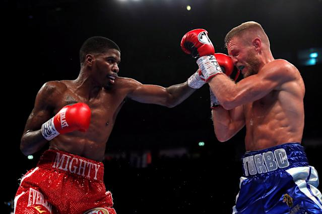 Boxing - Terry Flanagan v Maurice Hooker - WBO World Super-Lightweight Title - Manchester Arena, Manchester, Britain - June 9, 2018 Terry Flanagan in action against Maurice Hooker Action Images via Reuters/Andrew Couldridge