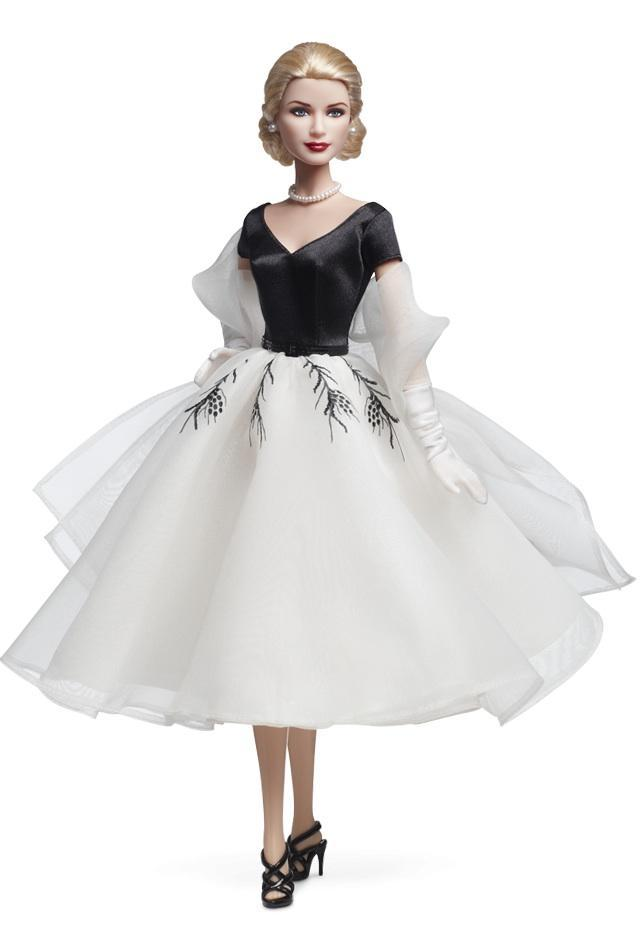 "<div class=""caption-credit""> Photo by: barbiecollector.com</div><b>Grace Kelly ""Rear Window"" doll, released in 2011 for $34.95</b> <br> One of the most iconic dresses in film, in Barbie size. Which means we still can't wear it."