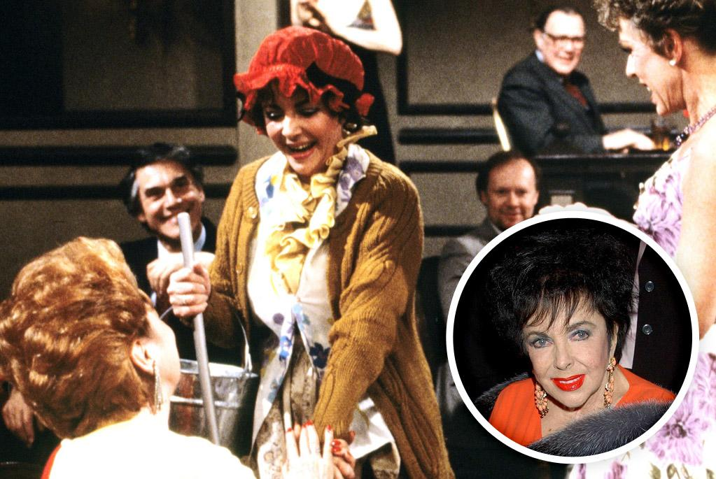 """Elizabeth Taylor pranked her long-time friend Carol Burnett during a live 1983 episode of """"<a href=""""/all-my-children/show/28652"""">All My Children</a>."""" The late actress showed up dressed in a scrubwoman's outfit -- an ode to one of the characters from """"The Carol Burnett Show."""""""